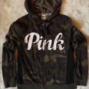 PINK hoodie/zip up